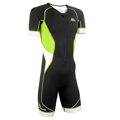Aropec Aerosuit Tri-Compress Herren - Trisuit Men, Größe:XL, Farbe:schwarz/grün