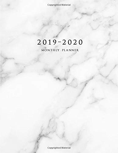 2019-2020 Monthly Planner: Large Two Year Planner with Marble Cover (Volume 6) por Miracle Planners