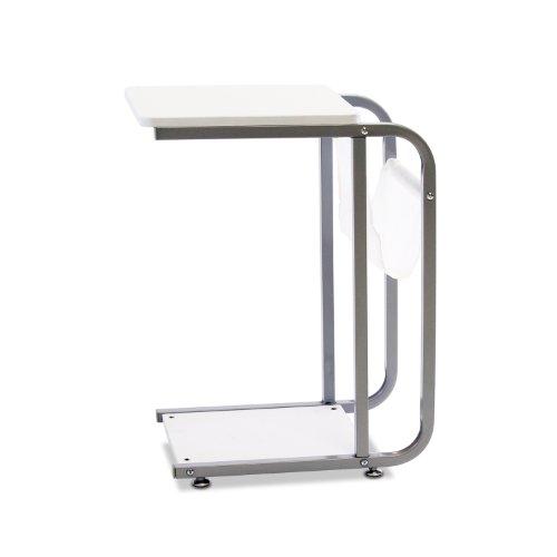 Furinno FNBJ-22033 B&W U-Storage Side Table, White