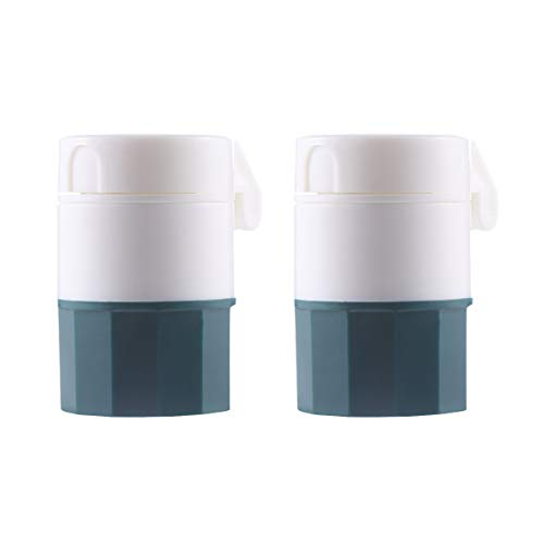 Artibetter 2pcs portátil cortador de pastillas divisor de tabletas de vitamina divisor triturador (verde)