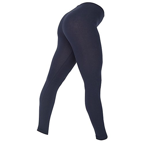 american-apparel-womens-ladies-cotton-spandex-jersey-leggings-m-navy