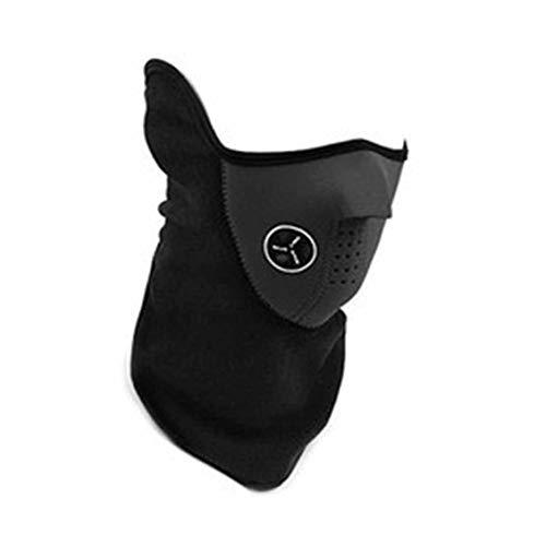 Anti Polvo Contaminación Mascarilla Boca Máscaras de Esquí Gusano de Cuello Invierno Clima Frío Media Mascarilla para Bicicleta Esquí Escalada