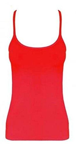 Momo Fashions - adulti delle signore delle ragazze dorso a Neon Canotta Taglia 36-44 Rosso