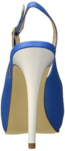 Guess Lea05, Chaussures à Talons Compensés Femme Bleu - bleu