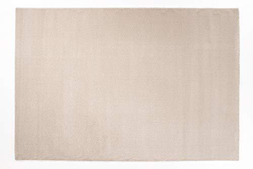 VENUS UNI moderner Designer Teppich in beige-mix, Größe: 240x290 cm -