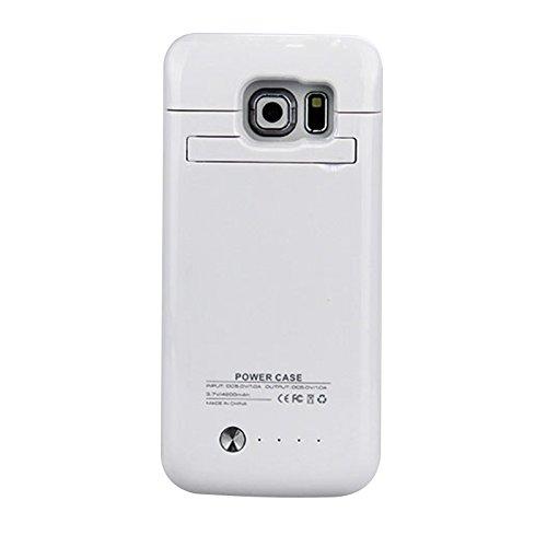 Forhouse Custodia per Samsung Galaxy S6 Edge G9250 4200mAh, Polimero di Litio Ultra Sottile Portatile Ricaricabile Protettiva Caricabatterie con indicatori LED Backup Custodia