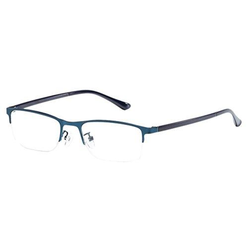Zhhlinyuan Lightweight Unisex Metal Elderly Special Reading Glasses Comfort Qualität for Men Women +1.5 +2.50 +3.0 +4.00 mit Brillenetui