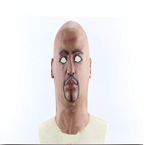 NSMZ Halloween-Maske, Unterwelt Bald Big Brother Halloween Horror Scary Show Außenhandel Maske, geeignet für Tanz, Halloween, Bühnenauftritt