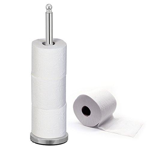 Tatkraft IDEAL | Toilettenpapierhalter, Klopapierrollenhalter | Ersatzrollenhalter Chrom Für 4 Rollen | Stabil Und Rostresistent | Maße: 14x51 cm