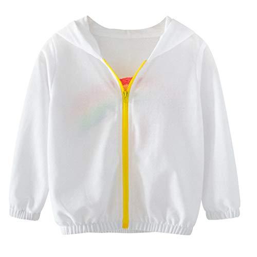 Cuteelf Kinderjacke Kinderbekleidung Jungen Jungen Langarm Regenbogenjacke Windjacke Oberteile Jungen Jungen Mädchen Langarm Kapuzen Regenbogenjacke Windjacke (Günstige Kinder Kostüm Verkauf)