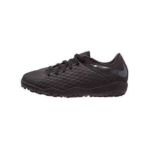Nike Jr Hypervenom 3 Academy Tf, Scarpe da Calcetto Indoor Unisex-Adulto, Nero Black 001, 38.5 EU