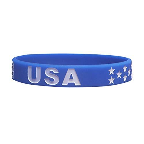Amosfun American Flag Armbänder Silikon Armband Fitness Sport Armband für 4. Juli Party Favors American Travel Geschenke (4. Von Juli-party-spiele)