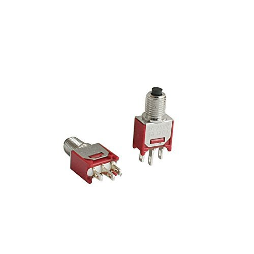2ST 5 mm Befestigung 2 Positionen SPDT Push Button Switch AC250V / 1A 120V / 3A -