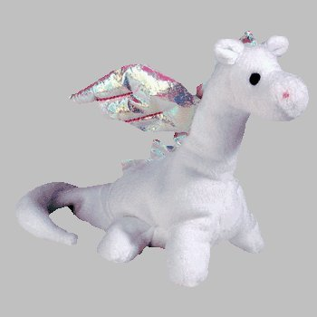 TY Beanie Baby - MAGIC the White Dragon (4th Gen hang tag) by Beanie Babies