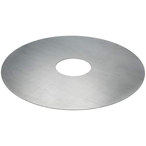 satis Extra große Grillplatte 80 cm rund I Feuerplatte für Tonne, Feuerschale, Metalfass I Neustes Grill Erlebnis I Köstliches Plancha BBQ I Grillring...
