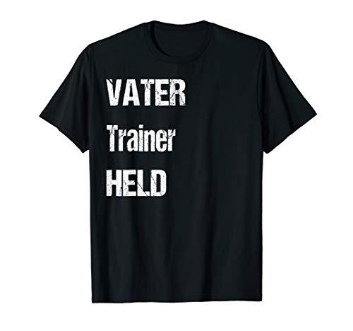 Vater Trainer Held Lustiges Vatertags Geschenk Shirt -