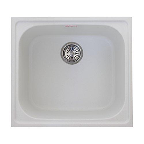 ZINZER Granite Kitchen Sink : Single Bowl Matt - White color