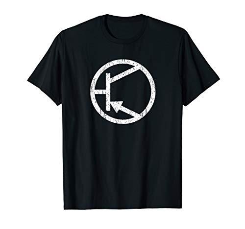 Negative positive Stromspannung musik vom feld PNP Typ T-Shirt