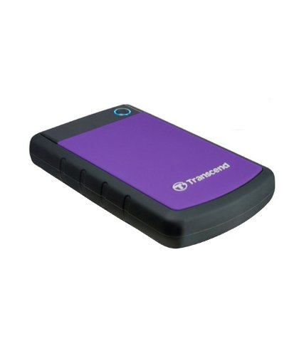 Transcend StoreJet 25H3P 2.5-inch 1TB Portable External Hard Drive (Purple)