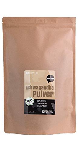 Wohltuer Bio Ashwagandha Pulver 250g I Indische Ayurveda Lehre I (DE-ÖKO-006)