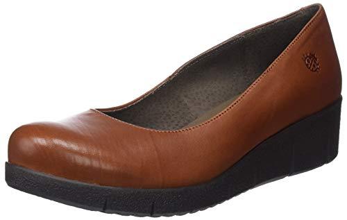 YOKONO Gema, Zapatos de tacn con Punta Cerrada para Mujer, (Marrn 002), 38 EU