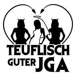 T-Shirt für den Junggesellinnenabschied mit dem Motiv Teuflisch Guter JGA White