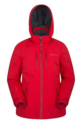 Mountain Warehouse Slopestyle Damen Extreme Skijacke - Isolierter Damenmantel, wasserdichter Regenmantel, warme, atmungsaktive Winterjacke - für Skiurlaub, Snowboarding Rot DE 40 (EU 42)