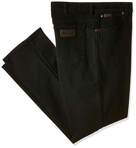 Wrangler Texas Stretch W12109004, Größe 40/32, Black Overdye -