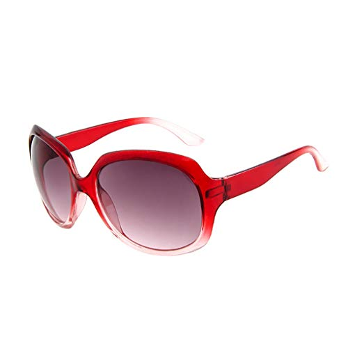 Über-Groß Sonnenbrille Polarisiert für Damen/Dorical Mode Oversized UV-400 Designer-Brille Shaded Objektiv Vintage Brillen Outdoor Brille Frauen Sunglasses Travel Eyewear(F)