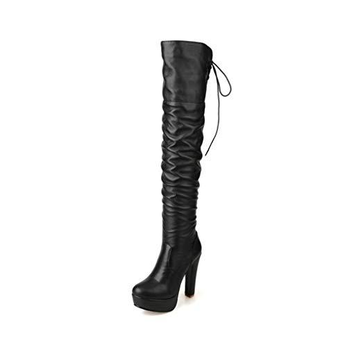 6f0e9b8a6 HAOLIEQUAN Plus Size 34-48 High Heels Women Boots Platform Winter Warm Over  Knee Boots