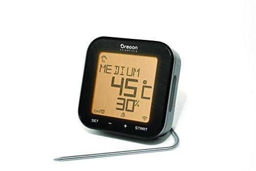 Oregon Scientific Bluetooth Grillthermometer - Grill Right, Schwarz, 12x12x5