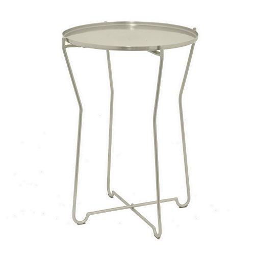 Drei Hände Moderne Runde Silber Metall Accent Tisch (Beistelltisch Sunburst)