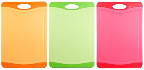culinario 3er Set Schneidebretter mit Hygiene-Schutz, 29 x 20 cm, in 3 Farben