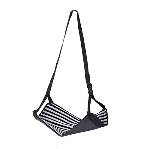 HFOUR Fußstütze Hängematte - Flugzeug Fußstütze Portable Folding Striped Style - Für Flugreise Und Bürotisch (15,3 * 10,2 Zoll) - Verstellbare Bürotische