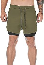 Dress Cici Men's Short, Compression Gym Shorts, 2 Layer, Multi Po