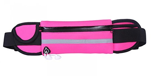 Lifenewbaby cintura da corsa Waistpack marsupio impermeabile Phone cintura borsa per palestra sport outdoor, Light Blue Rose