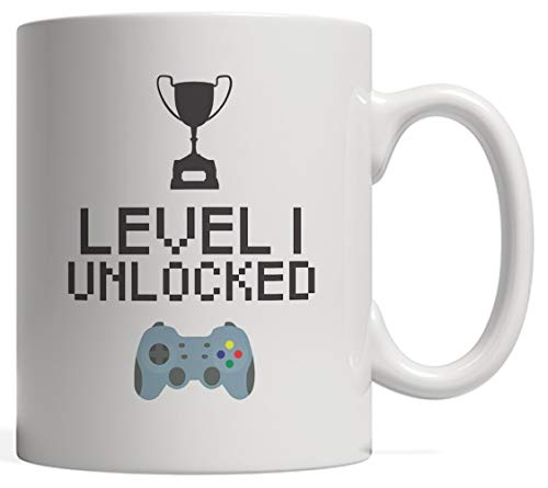 1st Birthday Mug Level 1 Unlocked - Funny Gamer B-Day Gift For One Year Old Sibling Born In 2016 or 2017 Who Loves Cool Videogames! With Awesome Console Controller And Cup