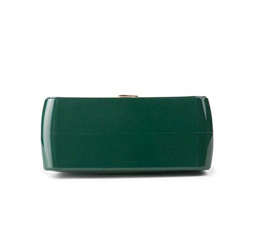 Frauenbeutel-Süßigkeitbeutel Kleiner Quadratischer Beutel-Schulterbeutel Kurierbeutel Mini Einfache Wilde Freizeit Green