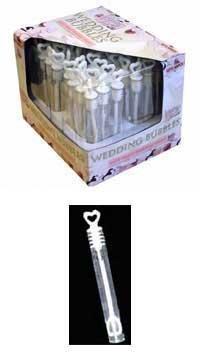 48 Wedding Wand Tube Bubble Wedding Favours-