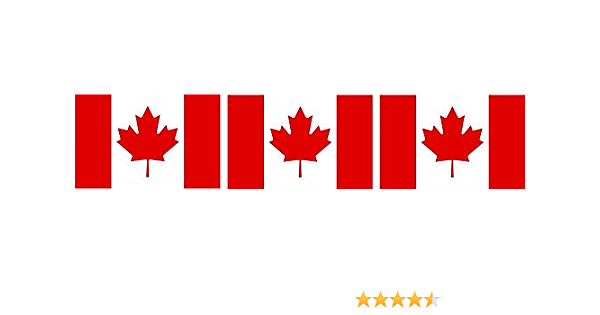 Etaia 2 5x4 Cm 3x Mini Aufkleber Fahne Flagge Von Kanada Canada Mit Ahornblatt Kleine Länder Sticker Auto Bike Fahrrad Motorrad Auto