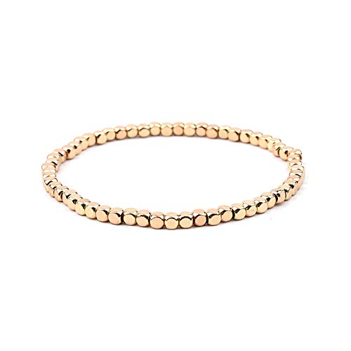 Mehrfarbenkristall Strang-Armbänder für Frauen-Gold-Acryl Kupfer Perlen, Rosa, Weiß, Schwarz, Grau Kristall Armband Femme, 15-Gold