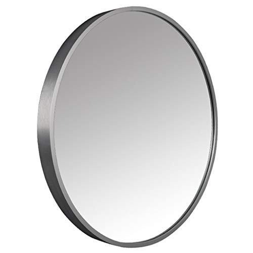 Schlafzimmer-modernen-eitelkeit (Badezimmerspiegel Runde Wandspiegel Dekorative Spiegel Make-Up Eitelkeit Rasieren Wohnzimmer Schlafzimmer Flur Moderne Einfachheit Holz Farbe (30 cm ~ 80 cm))
