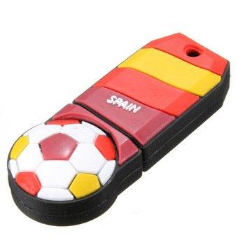 De fútbol bandera de España unidad flash USB–Memoria USB de 8GB almacenamiento de datos–Pendrive