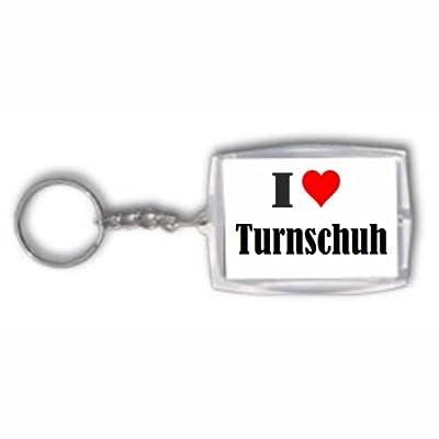 Schlüsselanhänger I Love Turnschuh in Weiss, Schwarz, Blau, Pink, Grau, Gelb, Orange, Grün und Rosa erhältlich