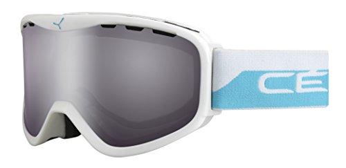 Cébé Unisex Erwachsene Skibrille Ridge OTG White/Blue/Light Rose Flash Mirror