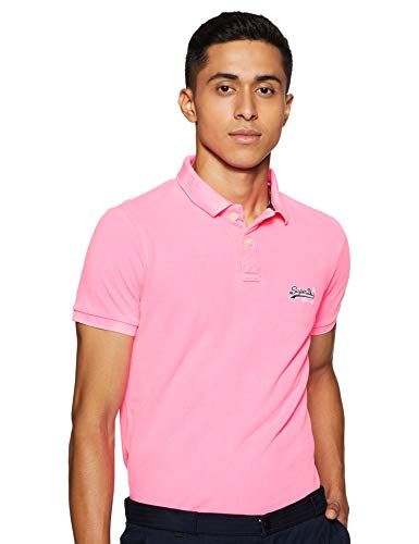 Superdry Herren Hyper Classic Pique Polo Poloshirt, (Malibu Pink S2O), XXL -