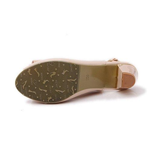 Sandali 1to9 Delle Con In Tacco I A Pelle In Alto Donne Quadrante Vernice Oro Beige ACCxqTgw0