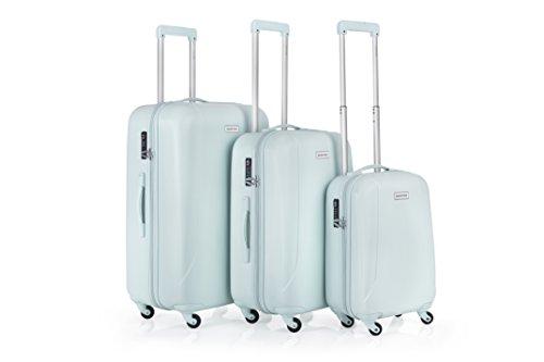 Carry On Reisekoffer (CarryOn Skyhopper 3er Reisegepäck - TSA Koffer- Hartschalen Gepäckset - Reisekoffer 4 Rollen Minze)