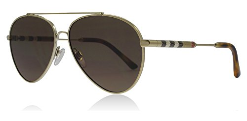 BURBERRY Damen 0Be3092Q 114573 57 Sonnenbrille, Gold/Brown