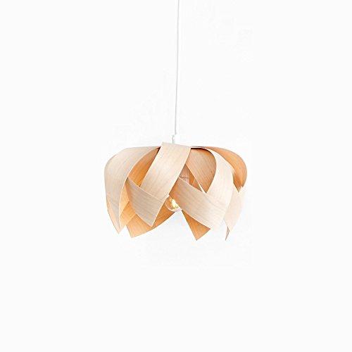 Yndlingsting | Lotus Mini Ahorn | Pendelleuchte Holz aus Ahorn Furnierholz